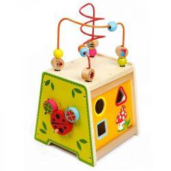 Cub din lemn multifunctional, 5 in 1, multicolor , Picodino