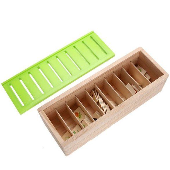 Joc Montessori de sortare si asociere 88 piese din lemn, Picodino