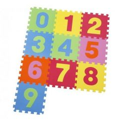 Covor puzzle din burete , 10 piese, 30x30 cm