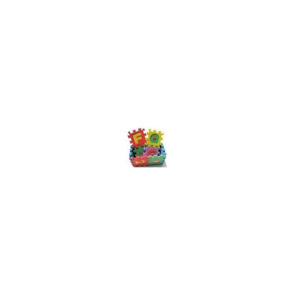 Covor puzzle din burete cu litere, 8 piese, 30x30 cm