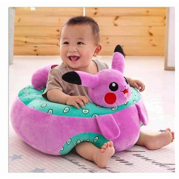 Fotoliu din plus bebe Animalute Pikachu XL 45cm