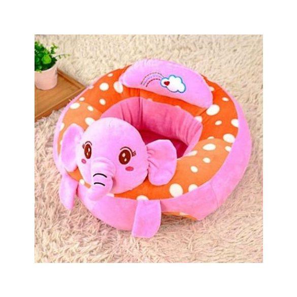 Fotoliu din plus bebe Animalute Elefantel Xl 45cm