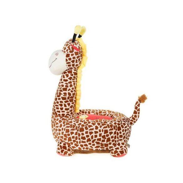 Fotoliu din plus Girafa Maro