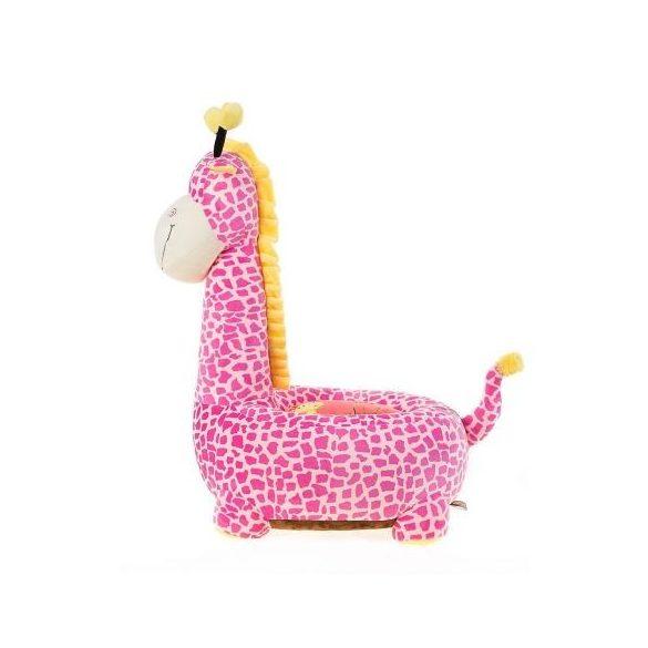 Fotoliu din plus Girafa Roz
