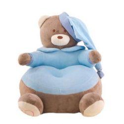 Fotoliu  din plus Urs Teddy Bear  Albastru xl ,50cm