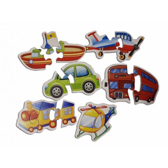 Set 3 Puzzle ferma, jungla si transport
