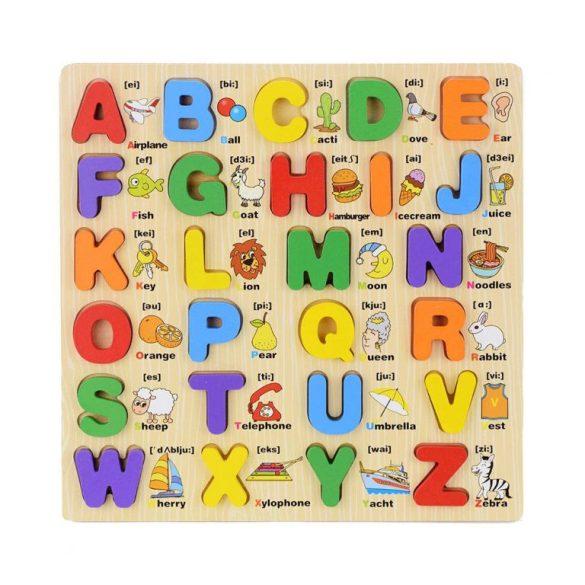 Puzzle lemn Alfabet 3d litere mari cu imagini