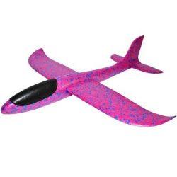 Avion planor din polistiren 48 cm Roz