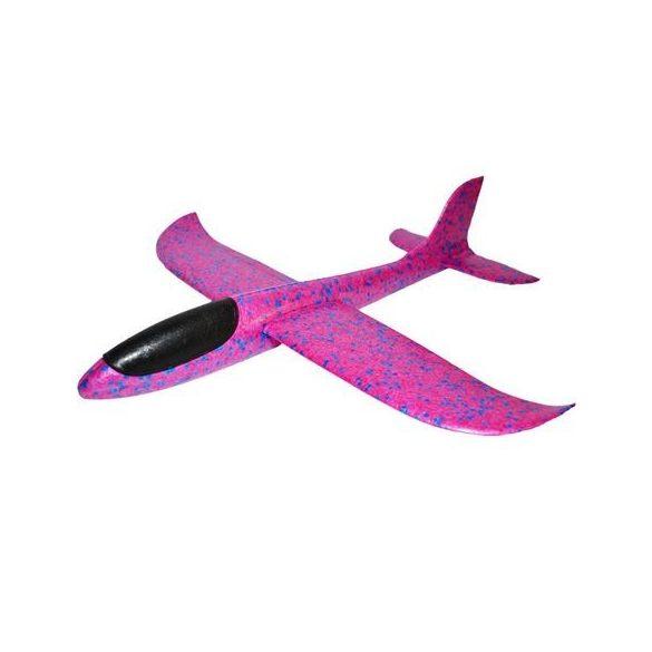Avion planor din polistiren cu lumini, 48 cm Roz