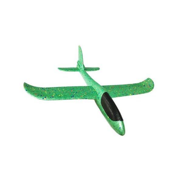 Avion planor din polistiren cu lumini, 48 cm Verde