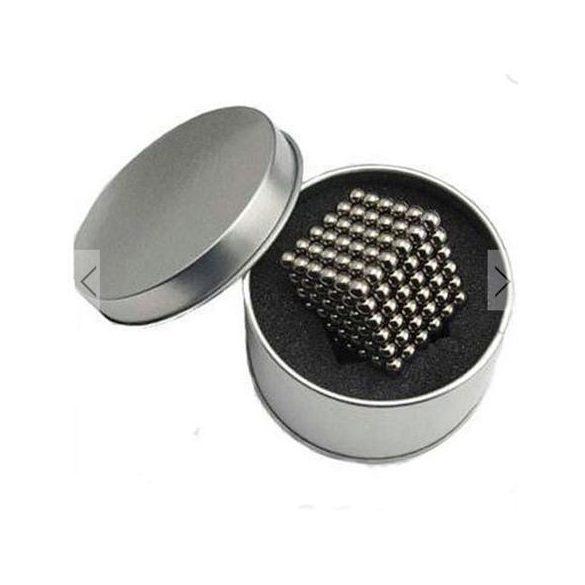 Puzzle Magnetic, Tesla Balls, 216 bile magnetice, 5mm,Argintiu