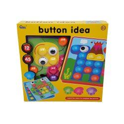 Joc de creatie Button Idea cu 12 planse si 46 de butoane colorate, Picodino
