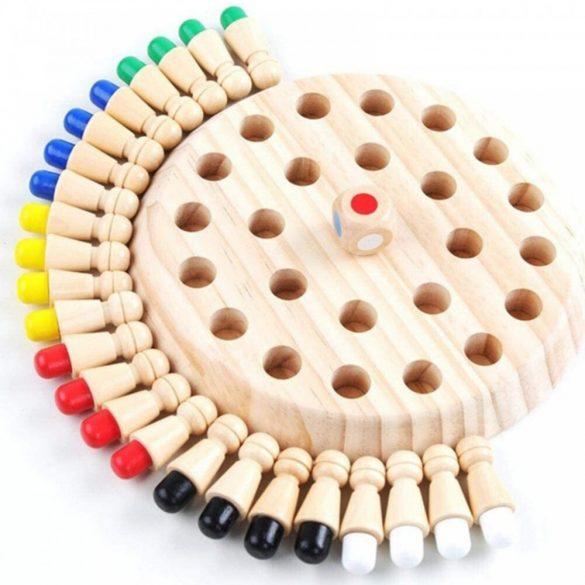 Joc de sah cu memorie, dimensiune 17 cm , realizat din lemn de pin , memory chess , 26 Piese , Picodino®
