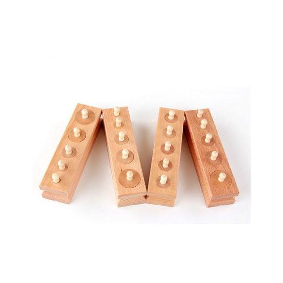Set Cilindri Montessori lemn natur  , Picodino