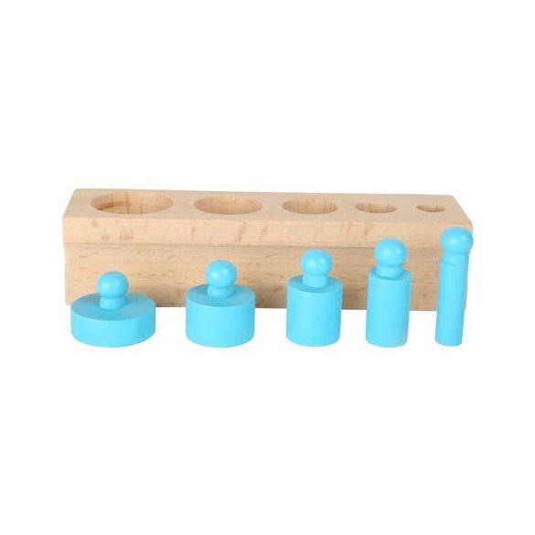 Set Cilindri Montessori lemn , multicolor , Picodino