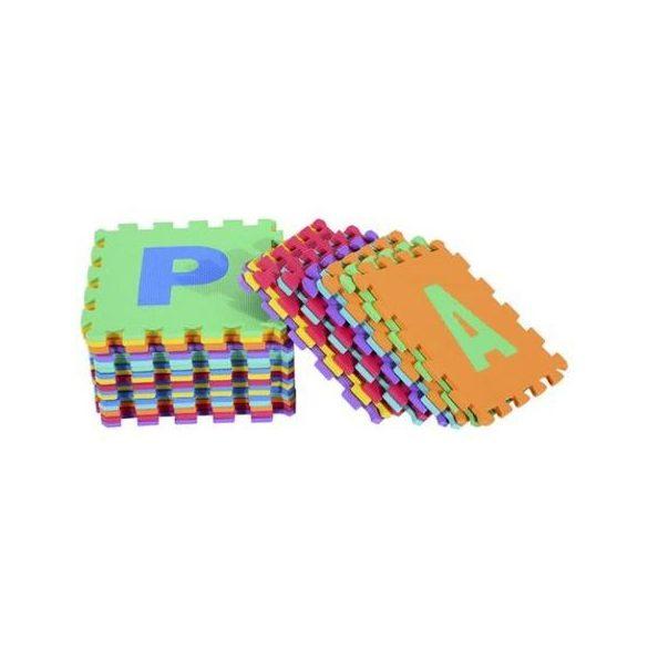 Covor puzzle cu cifre si litere pentru copii, Homcom, Multicolor, set 36 piese