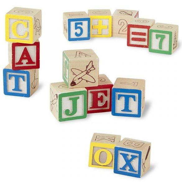 Set cuburi din lemn Alfabet , 27 piese