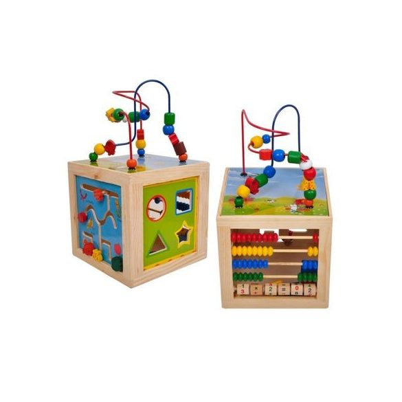 Cub Educativ Multifunctional 5in 1, Lemn