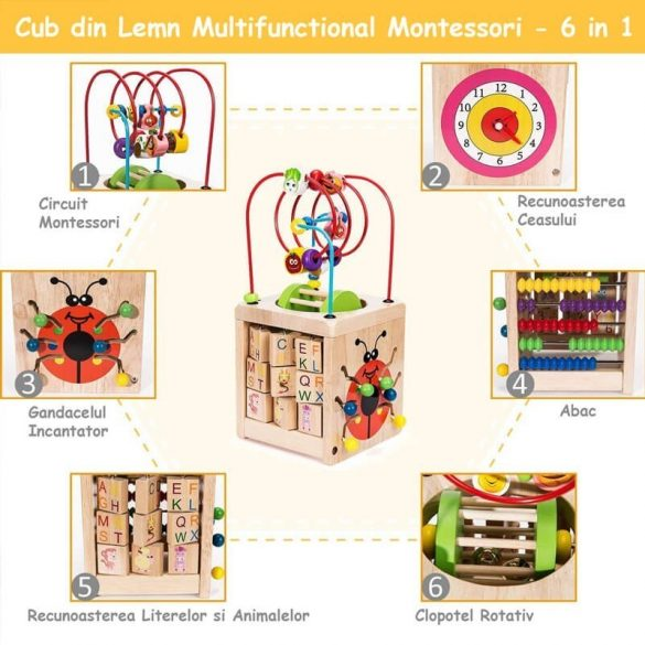 Cub educativ Montessori 6 in 1