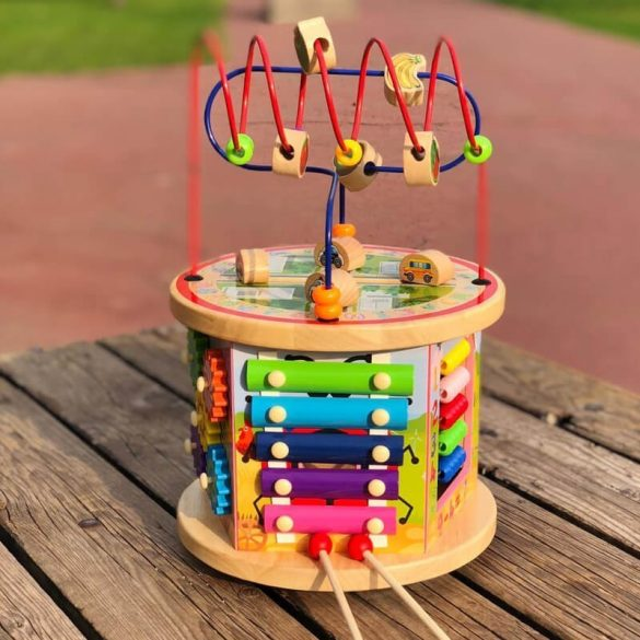 Cub multifunctional din lemn , 7 activitati