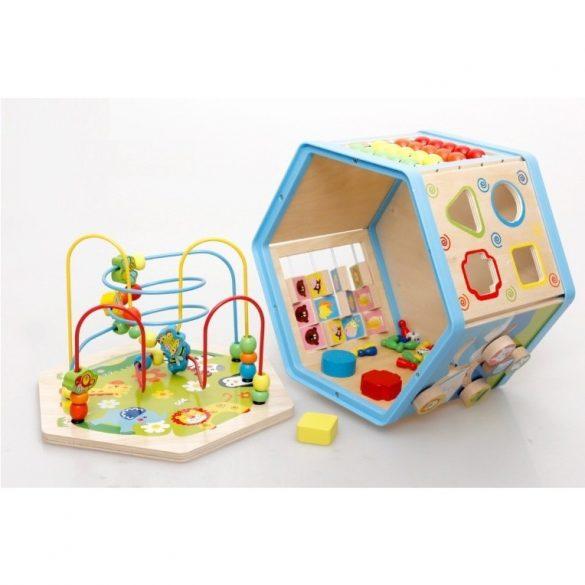 Jucarie  Cub Montessori 9 in 1, Centru de activitati Hexagon , Picodino