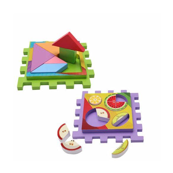 Cub educativ din lemn, centru de activitati patrat  7 in 1, functii diverse , Picodino®