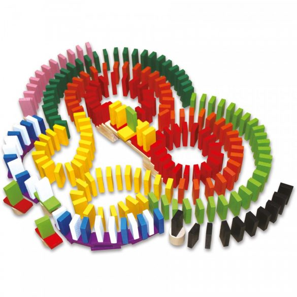 Domino traseu, 600 piese, lemn, multicolor , Picodino