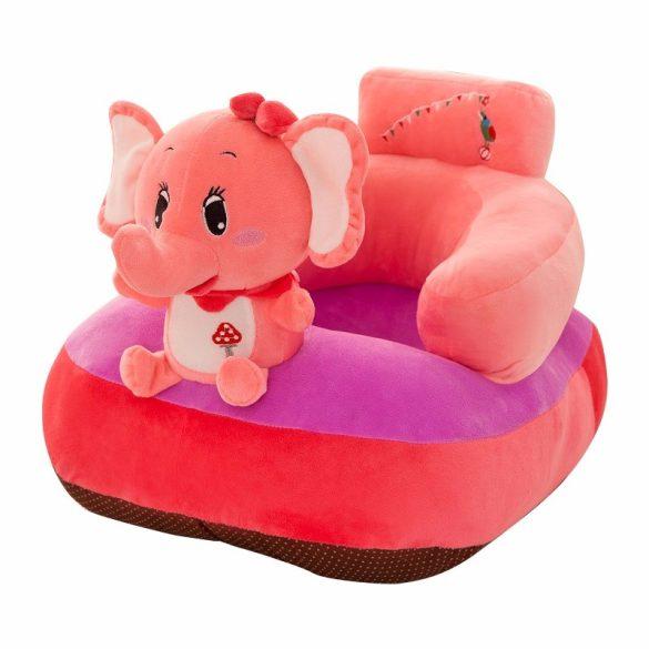 Fotoliu bebe plus cu spatar Animalute culoare Elefantica