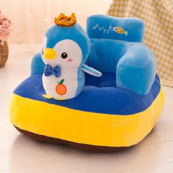 Fotoliu bebe plus cu spatar Animalute culoare Pinguin