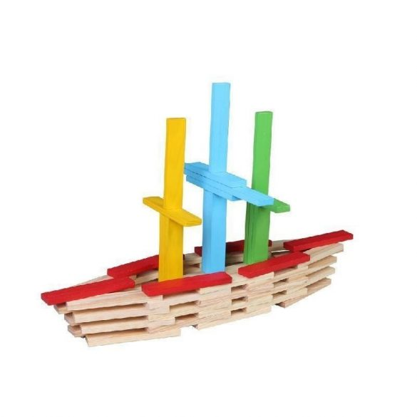 Joc constructie din lemn 150 piese