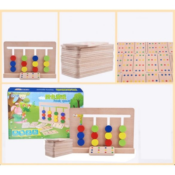 Joc Montessori Din Lemn Labirint Asociaza Culorile , Tablite lemn , Picodino®
