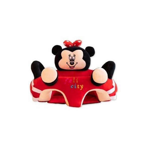Fotoliu 3D  bebe, Minnie cu arcada jucarii, dimensiune jumbo 55cm ,  Picodino®
