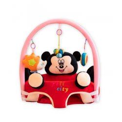 Fotoliu 3D  bebe, Mickey cu arcada jucarii, dimensiune jumbo 55cm ,  Picodino®