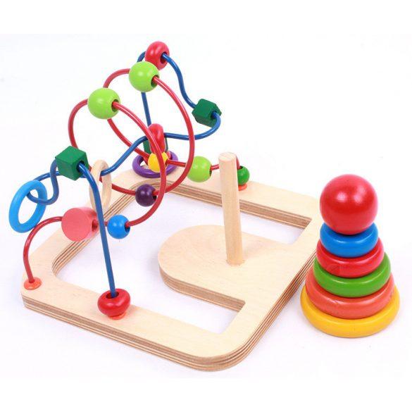Jucarie motricitate 2 in 1 Labirint si Turn Rainbow, Picodino®
