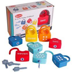 Joc Montessori Incuietori , asocieri Cifre , lacate si chei Onshine Locks