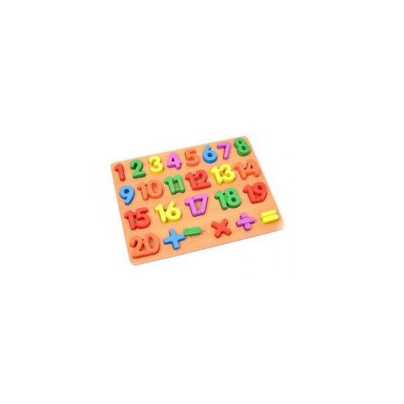 Puzzle lemn Alfabet 3d operatiuni 1-20