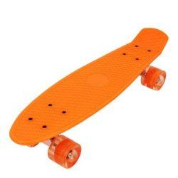 "Penny board 22"" , Street Only  , roti cu led , portocoliu , Picodino"