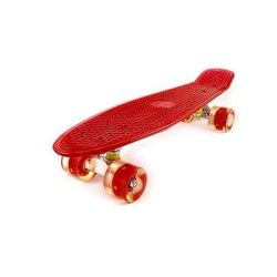 "Penny board 27"" , Street Only , roti cu led , rosu , Picodino"