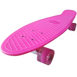 "Penny board 27"" Street Only , roti cu led ,  Roz , Picodino"