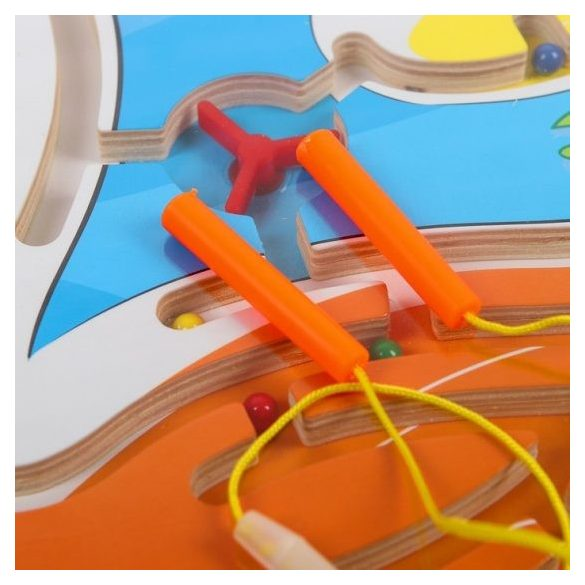 Labirint Magnetic din lemn Lebada , 35 cm , Picodino