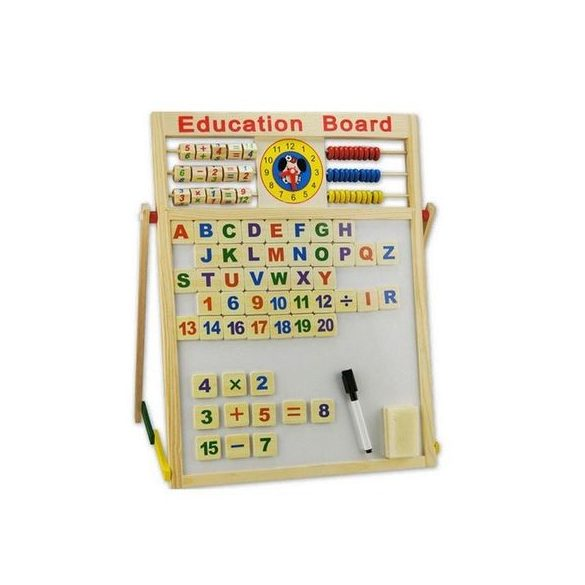 Tabla magnetica copii, jucarie din lemn Montessori, 47cm