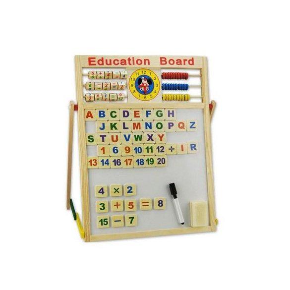 Tabla magnetica matematica 2 fete , jucarie din lemn Montessori, 60cm