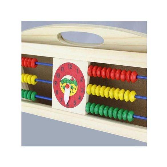 Tabla dubla de scris 4 in 1, pliabila , stabila ,  cu accesorii, 70 cm, ceas, marker, creta, + 3 ani, Picodino®