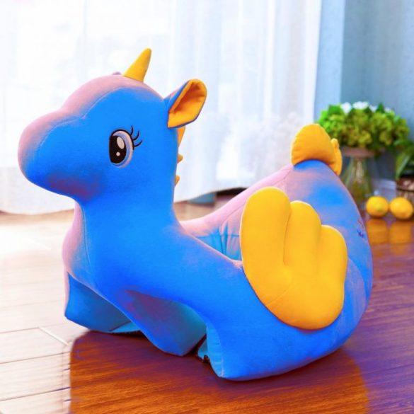 Fotoliu bebe din plus Unicornul Vesel Albastru