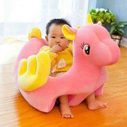 Fotoliu bebe din plus Unicornul Vesel Roz
