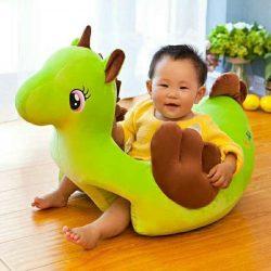 Fotoliu bebe din plus Unicornul Vesel Verde