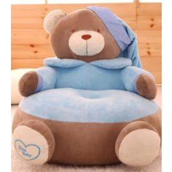 Fotoliu  din plus Urs Teddy Bear  Albastru Jumbo, 60cm