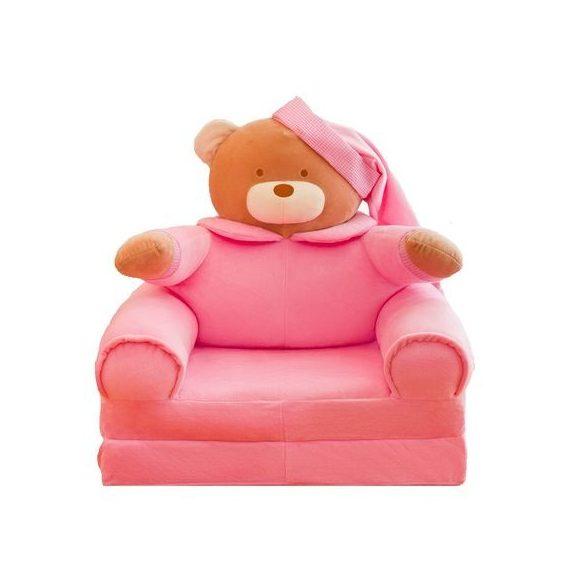 Fotoliu din plus extensibil Urs roz
