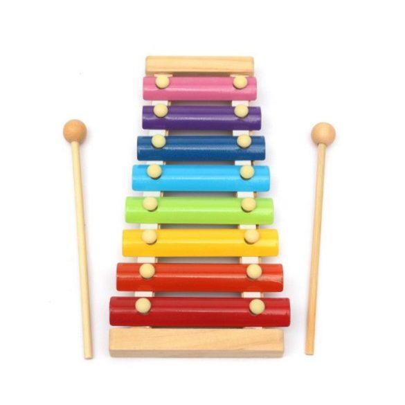 Jucarie muzicala din lemn , xilofon 8 note, Picodino